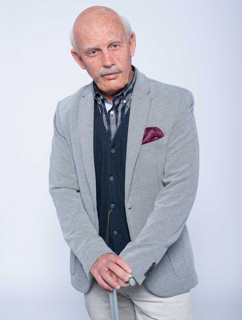 Schobert Norbi 70 évesre öregítve az Életünk története című műsorban.