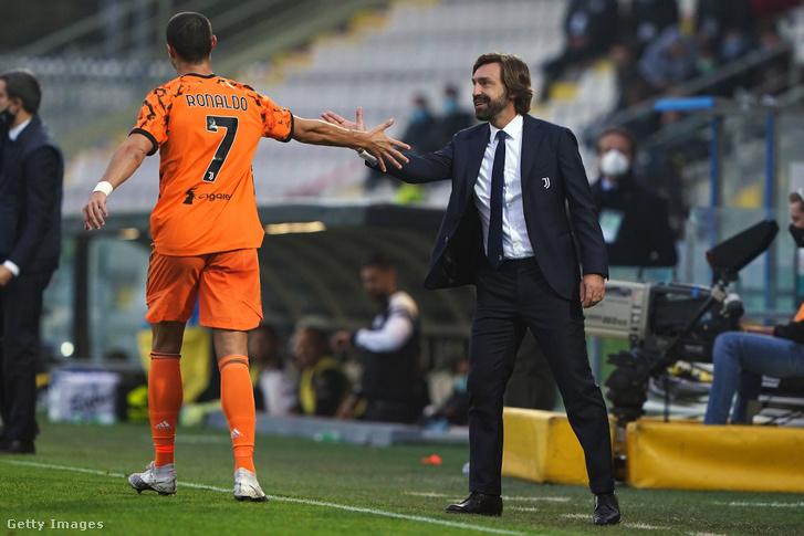 Cristiano Ronaldo és Andrea Pirlo a Spezia elleni bajnokin