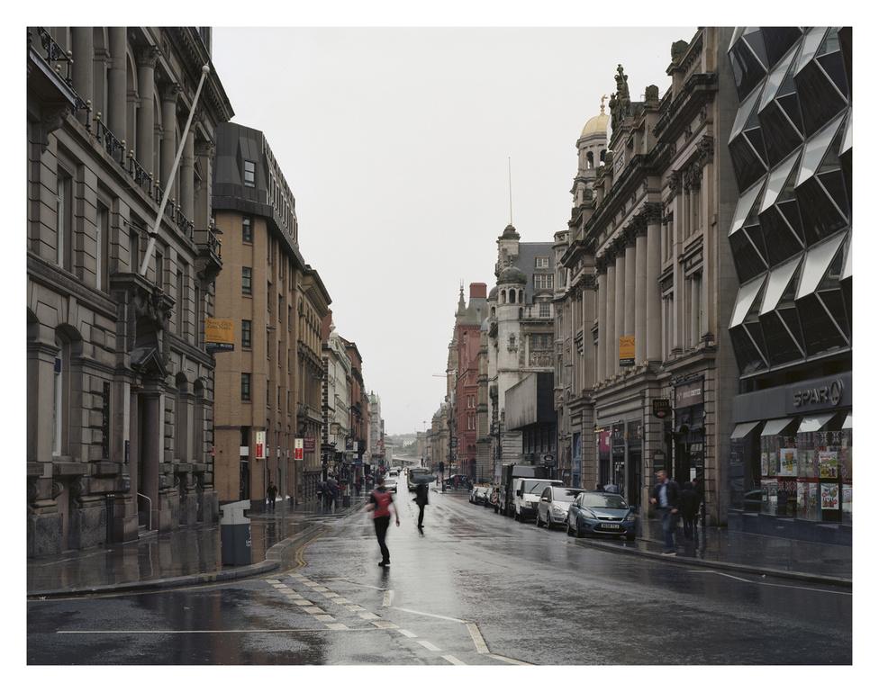 """Liverpool belvárosa, a valamikor jelentős """"banki negyed''. Itt az épületek stílusa keveredik: 1900-tól 1960-ig."""