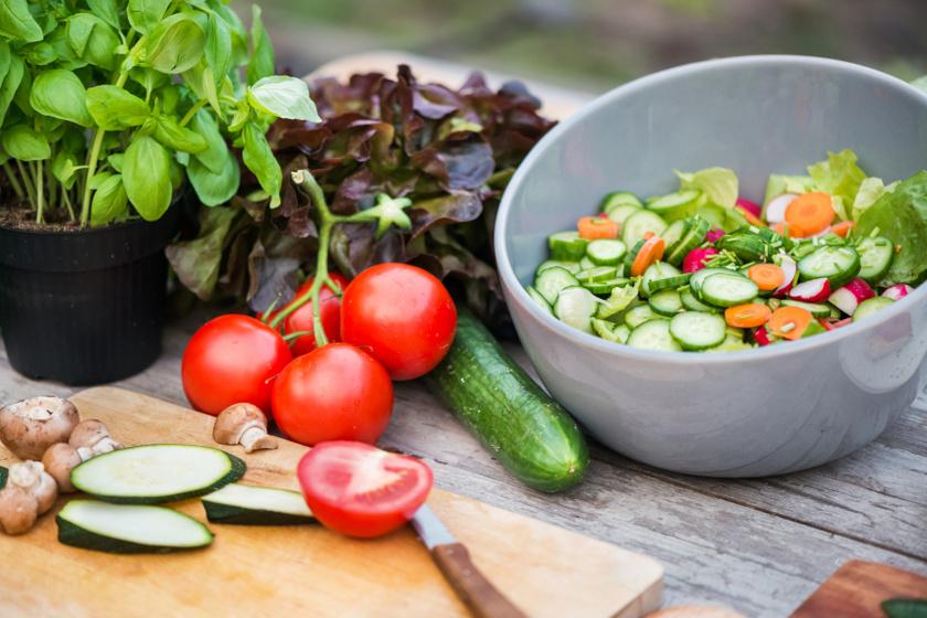 egészséges étel belső