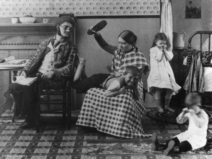 Így neveltek 1891 körül a kép tanúsága szerint