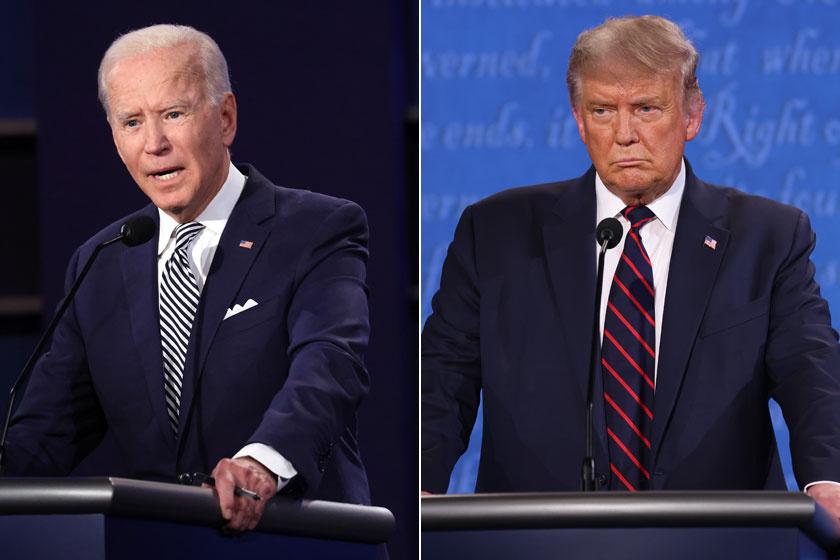 Biden és Trump 2020 szeptemberében vett részt az elnökjelölti vitán.