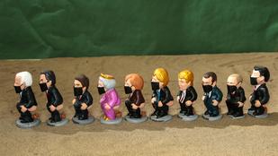 2020-ban II. Erzsébet és Donald Trump kakil bele diszkréten a katalánok betlehemjébe
