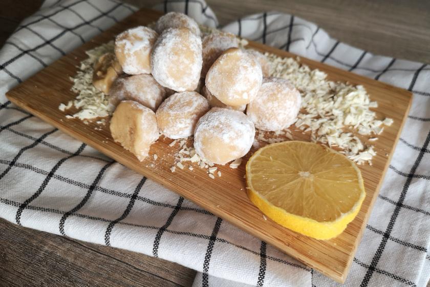 citromos fehércsokis golyó recept