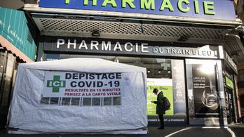 Franciaország: 86 ezer fölött a napi fertőzöttek száma