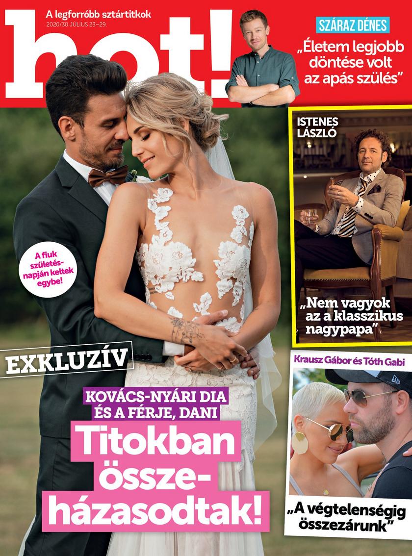 Nyári Dia és Kovács Dániel nyolcvanfős násznép előtt, a szabad ég alatt, egy tölgyfa tövében mondta ki a boldogító igent 2020. július 16-án.