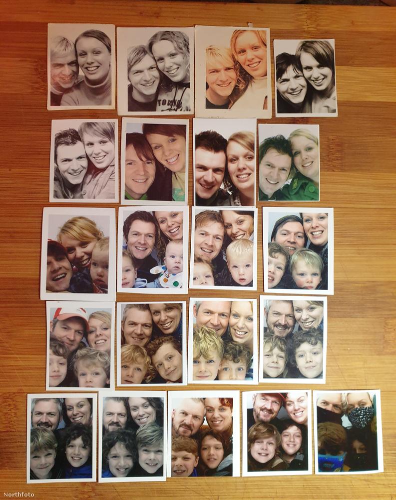 Giles Paley-Phillips és felesége, Michelle 20 éven át minden évben elkészítették magukról ugyanazt a képet