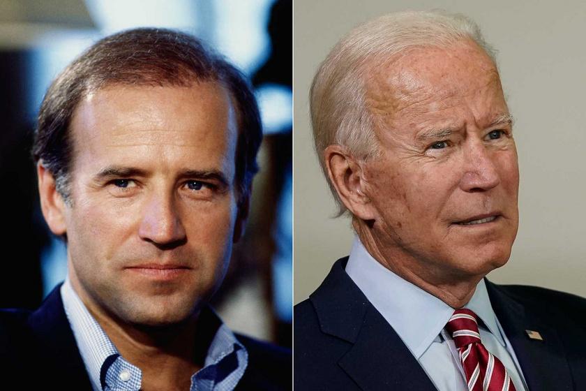 Joe Biden 1986-ban 43 évesen, és most, 2020-ban.