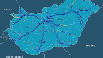Térképen az épülő autópályák és autóutak