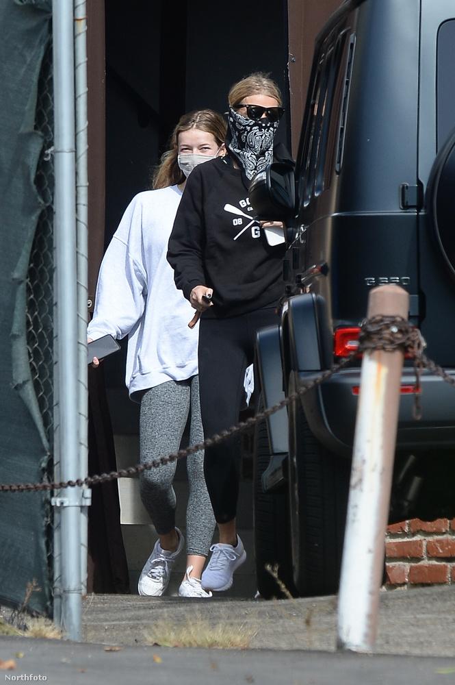 Gwyneth Paltrow-t Los Angelesben láthatja, egy izzasztó edzés után.