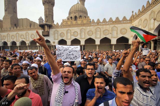 Izrael-ellenes egyiptomi tüntetők november 15-én