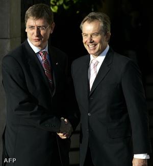 Gyurcsány Ferenc és Tony Blair 2005-ben