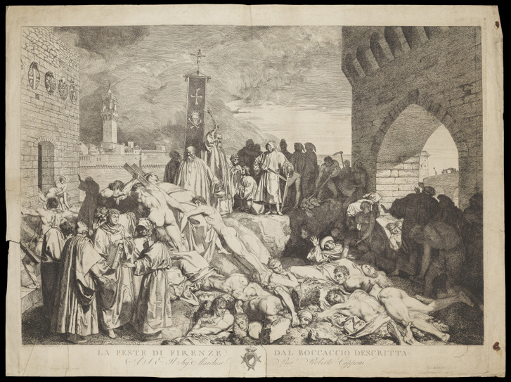 Boccaccio's 'The plague of Florence in 1348' Wellcome L0072144