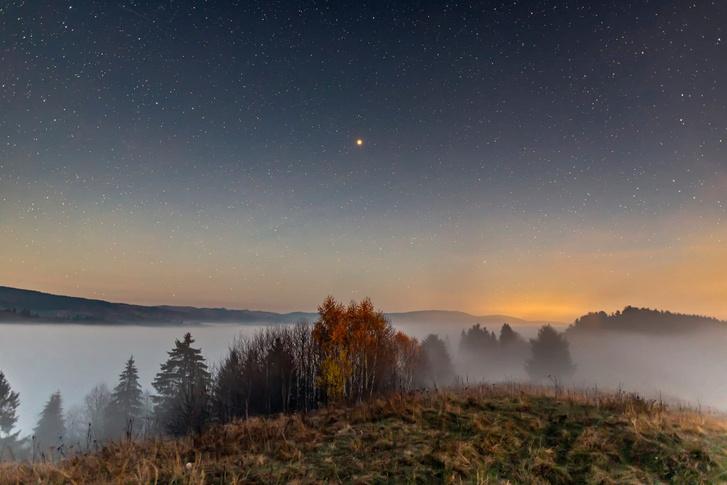 Munzlinger Attila fotója Gyergyószárhegyen a Hegyes-hegyen készült november 10-én.