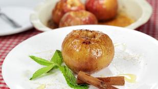 Ezt a fahéjas sült almát egy kis borssal és kurkumával pimpeltük