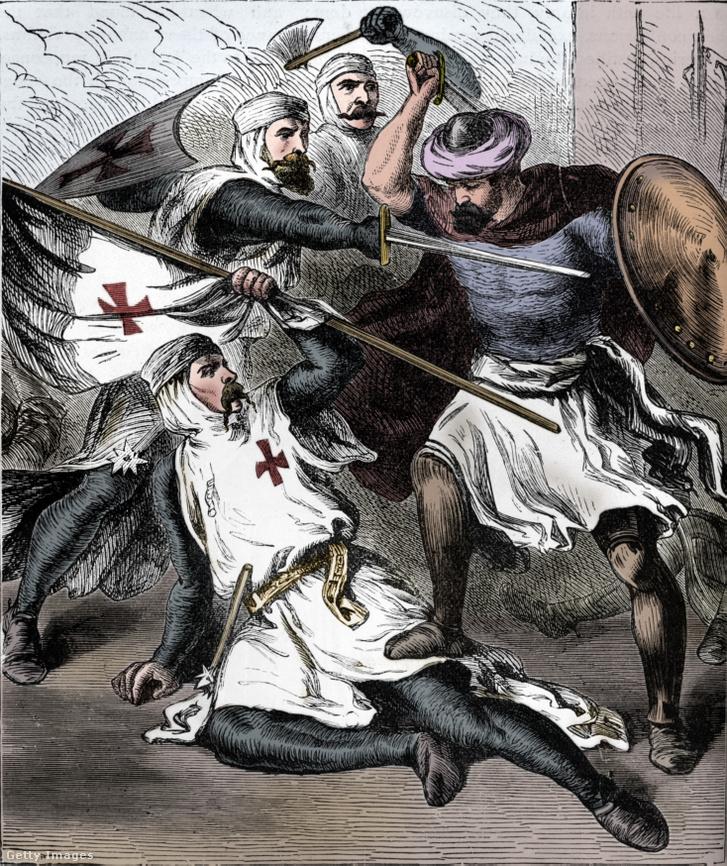 Harcoló templomos lovagok James Sangster elképzelése szerint