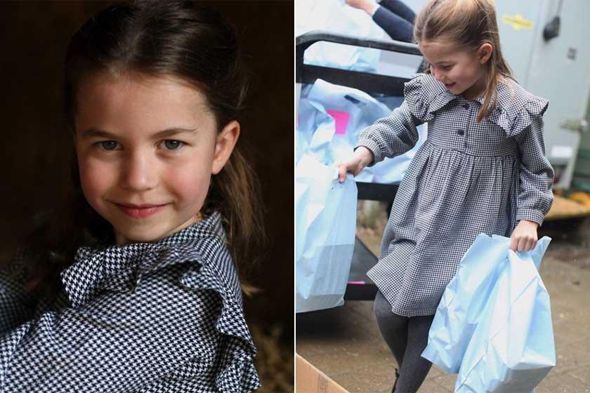 Charlotte hercegnőt ezzel a gyönyörű fotóval köszöntötte fel a palota, amelyet édesanyja készített róla: kész kis hölgy lett belőle ötéves korára.