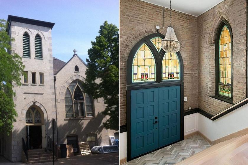 Bár kívülről senki sem hinné, a bejárati ajtó nem templomba, hanem egy családi otthonba vezet.