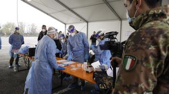 Olaszország: több mint negyvenezer fertőzött egy nap alatt