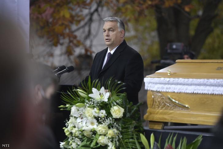 Orbán Viktor Szőcs Géza temetésén
