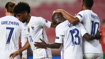 A világbajnok franciák legyőzték az Eb-győztes Portugálokat