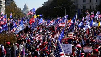 Donald Trump több ezer híve tüntetett Washingtonban