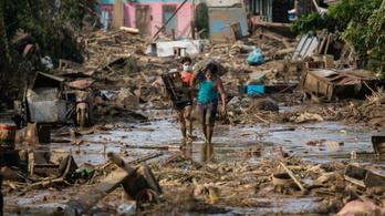 Már hatvanhét áldozata van a Fülöp-szigeteki tájfunnak