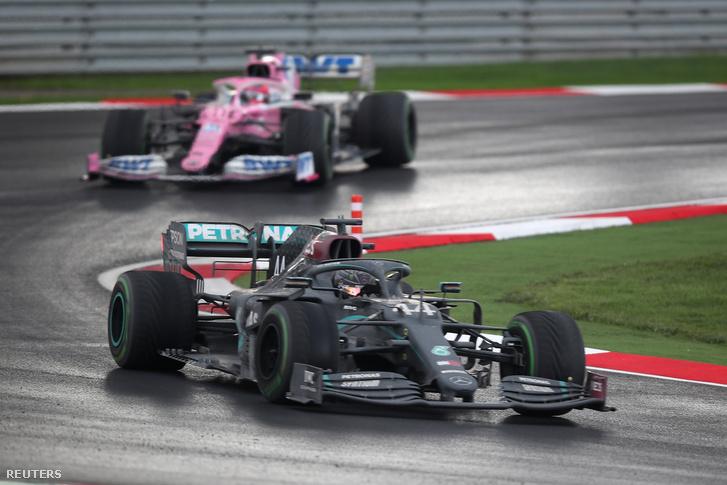 Hamilton azonnal faképnél hagyta Pérezt