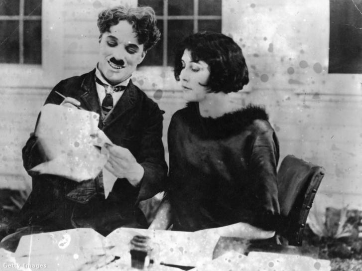 Charlie Chaplin és Lita Grey 1924-ben