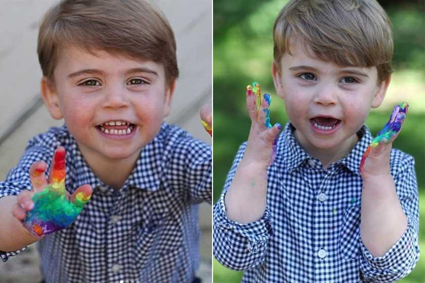 Katalin hercegné fotózta le fiát szivárványfestés közben, sikerült elkapnia a legcukibb pillanatot.