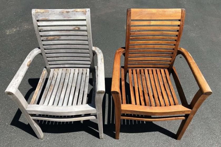 A rengeteg por és az évek alatt lerakódott kosz szinte fehérré változtatta ezt a széket, de az eredeti színe még csak nem is hasonlít rá.