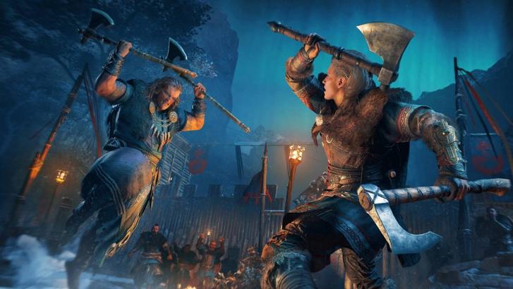 Ha rövid a szekercéd, told meg egy másikkal! (Assassin's Creed Valhalla – forrás: Ubisoft)