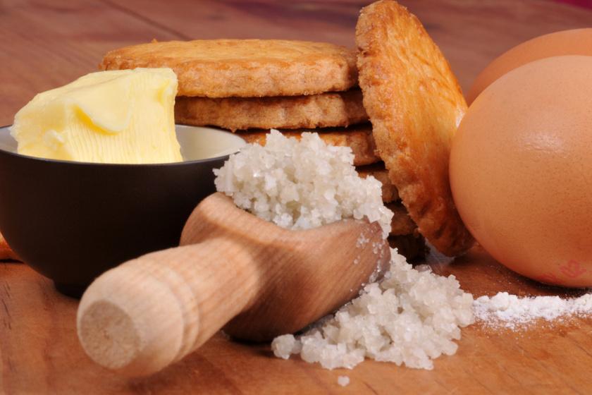 francia sós vajas keksz recept