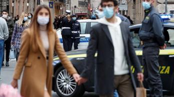 Koronavírus Olaszországban: a korlátozások ellenére nőtt a teszteken szűrt fertőzöttek aránya