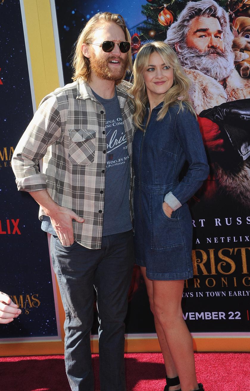 Wyatt Russell és felesége 2018 novemberében.