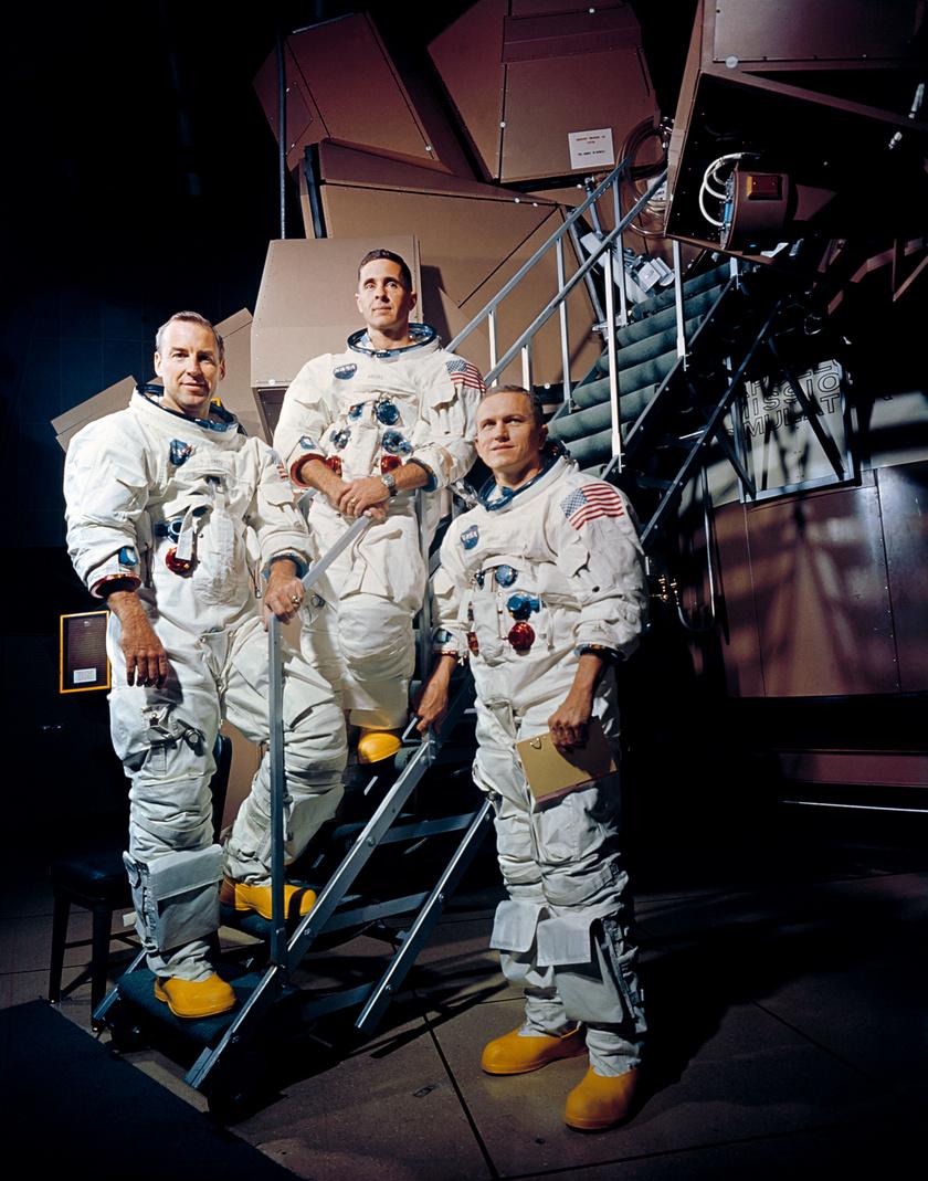 Az Apollo-8 legénysége: Lovell, Anders és Borman.