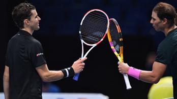 Thiem legyőzte Nadalt a londoni ATP-világbajnokságon