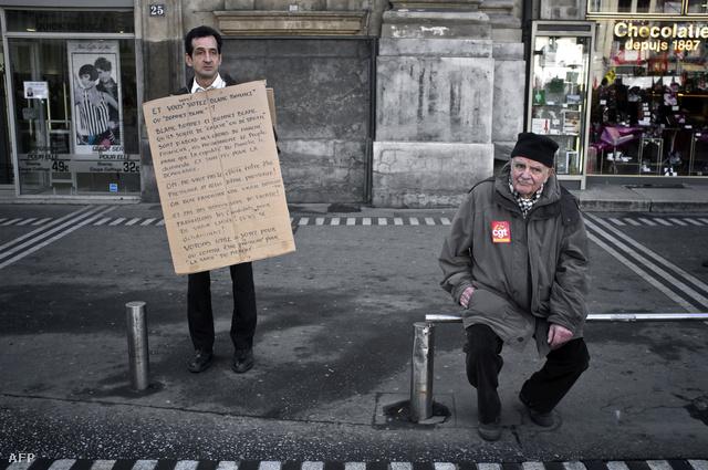 Francia szakszervezetek tavaszi demonstrációja a tervezett megszorítások ellen
