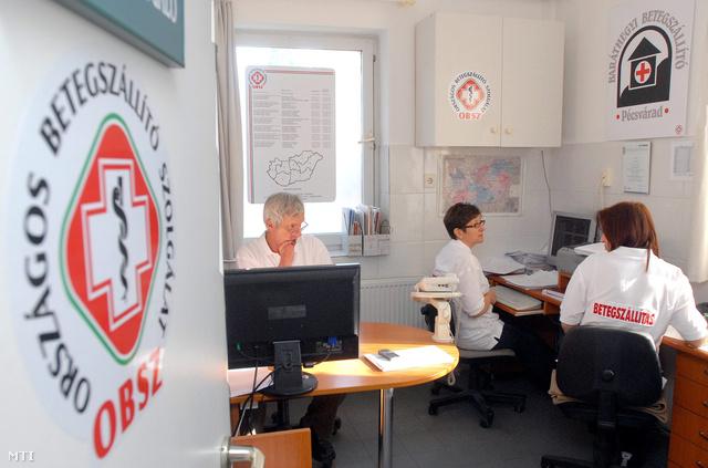 Pécsvárad 2008. november 11.A diszpécser szolgálat az Országos Betegszállító Szolgálat (OBSZ) irányító központjában.