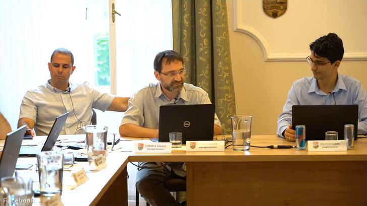 Balról-jobbra: Lőrincz László, Fülöp Zoltán és Balogh Csaba a hétfői gödi önkormányzati ülésen