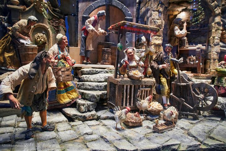 Egy középkori várost modellező dioráma