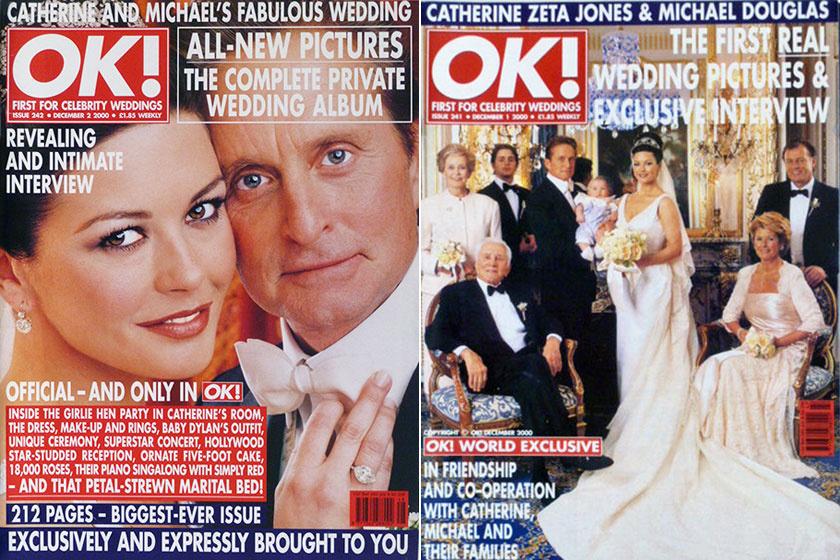 2000 november végén az OK! Magazine közölte címlapján a sztárpár esküvői fotóit.