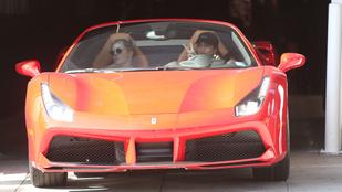 Vanessa Hudgens ezzel a piros, kabrió Ferrarival ugrik le edzeni