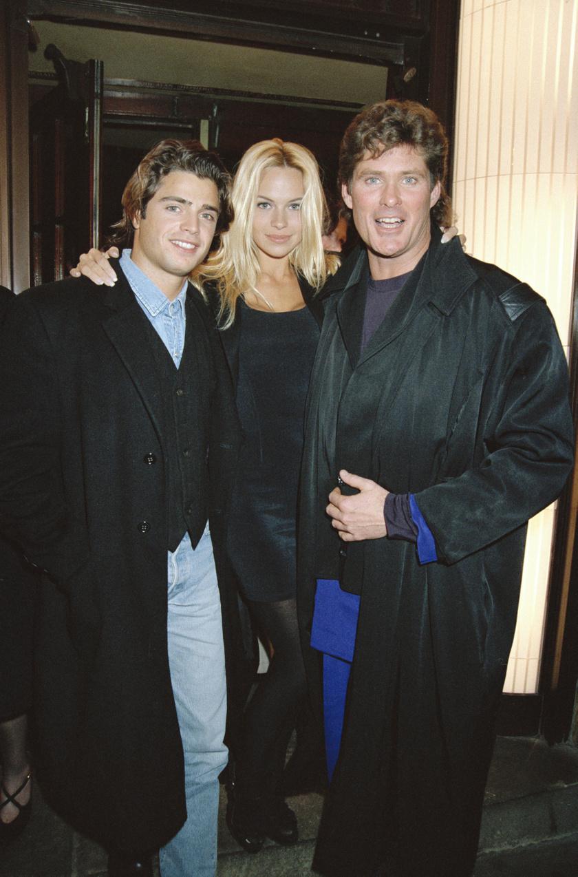 David Charvet, Pamela Anderson és David Hasselhoff 1993-ban.