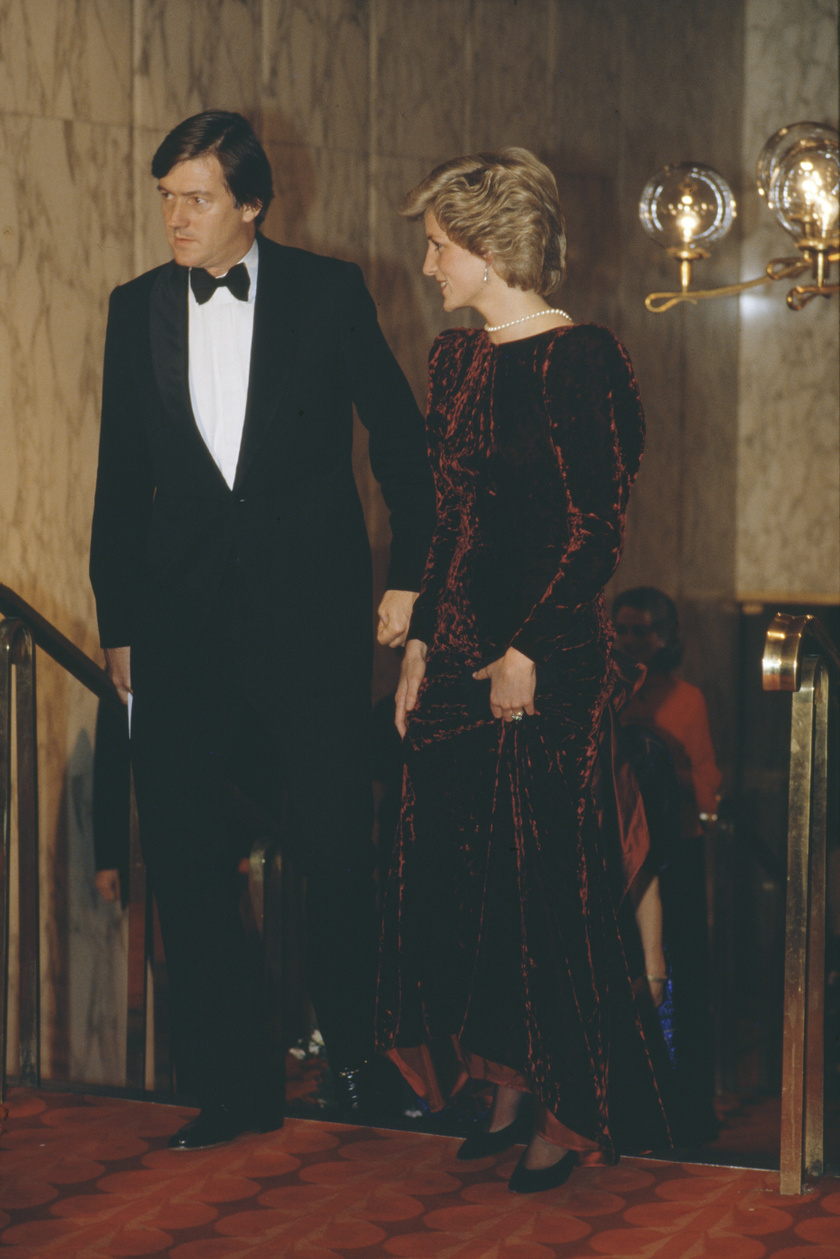 Diana a Vissza a jövőbe londoni premierjén.