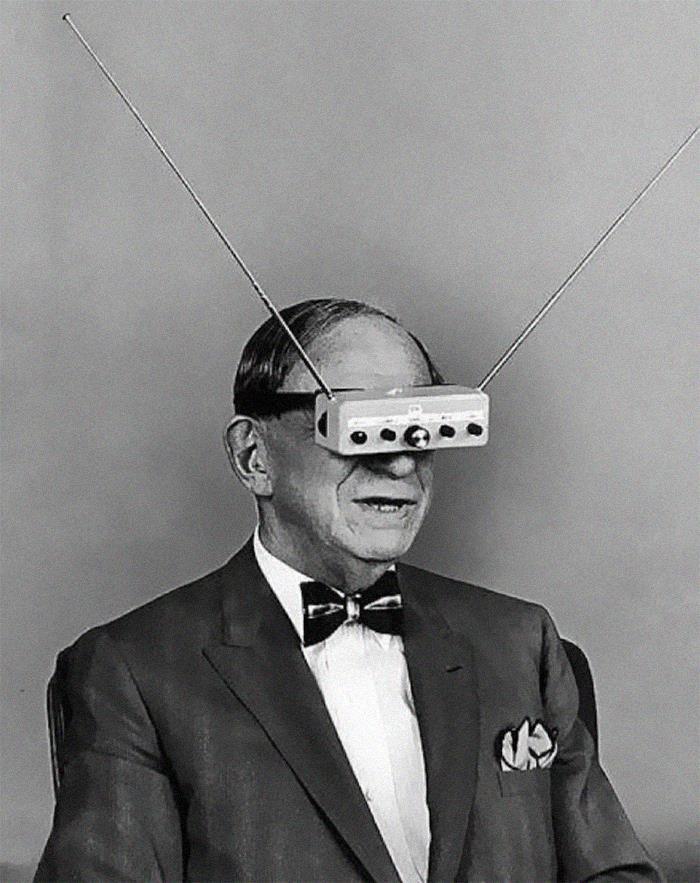 Tv-szemüveg az 1960-as évek elejéről.