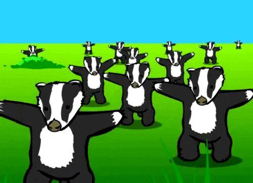 Részlet a Badgers! című korabeli animációból