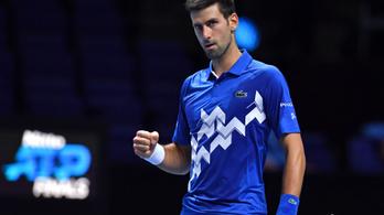Novak Djokovics bejutott az ATP-vb elődöntőjébe