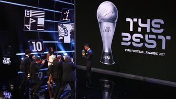 Virtuális térben kerül sor a FIFA díjkiosztó ünnepségére
