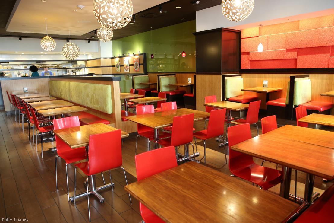 Üres étterem Washinton államban